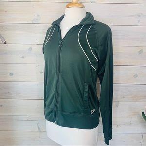 NIKE Sportswear Olive Green Zip Up Hoodie